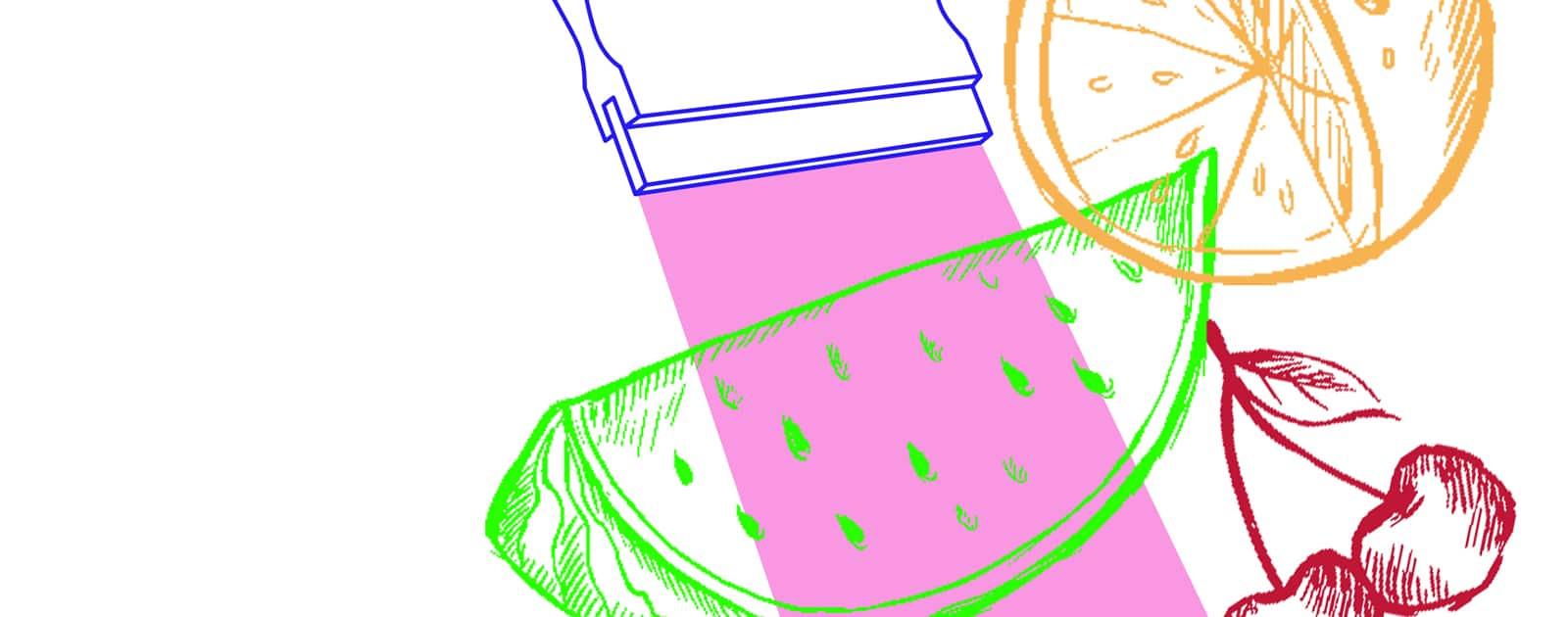 Sérigraphie fruits et légumes