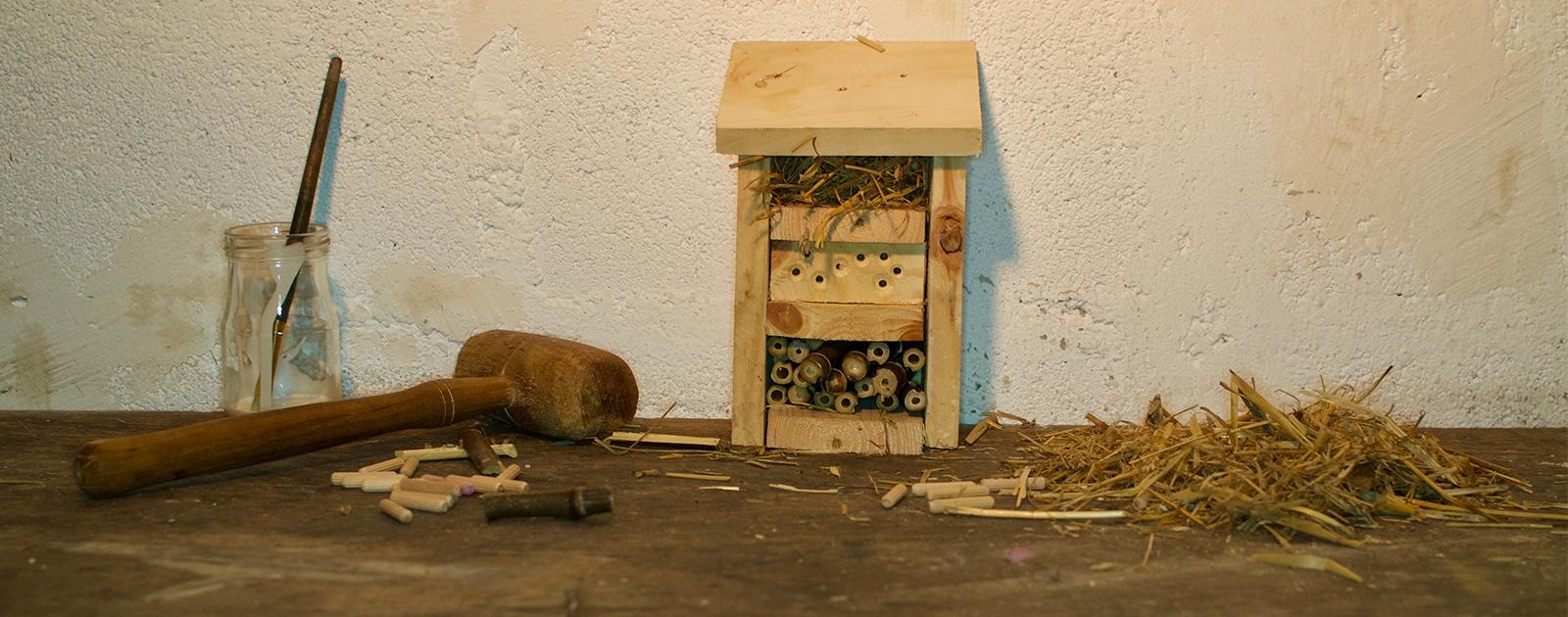 Fabrique l'hôtel à insectes de l'expo