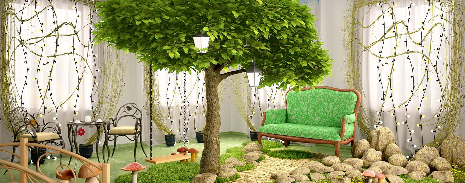 Du vert et de l'air dans ma maison