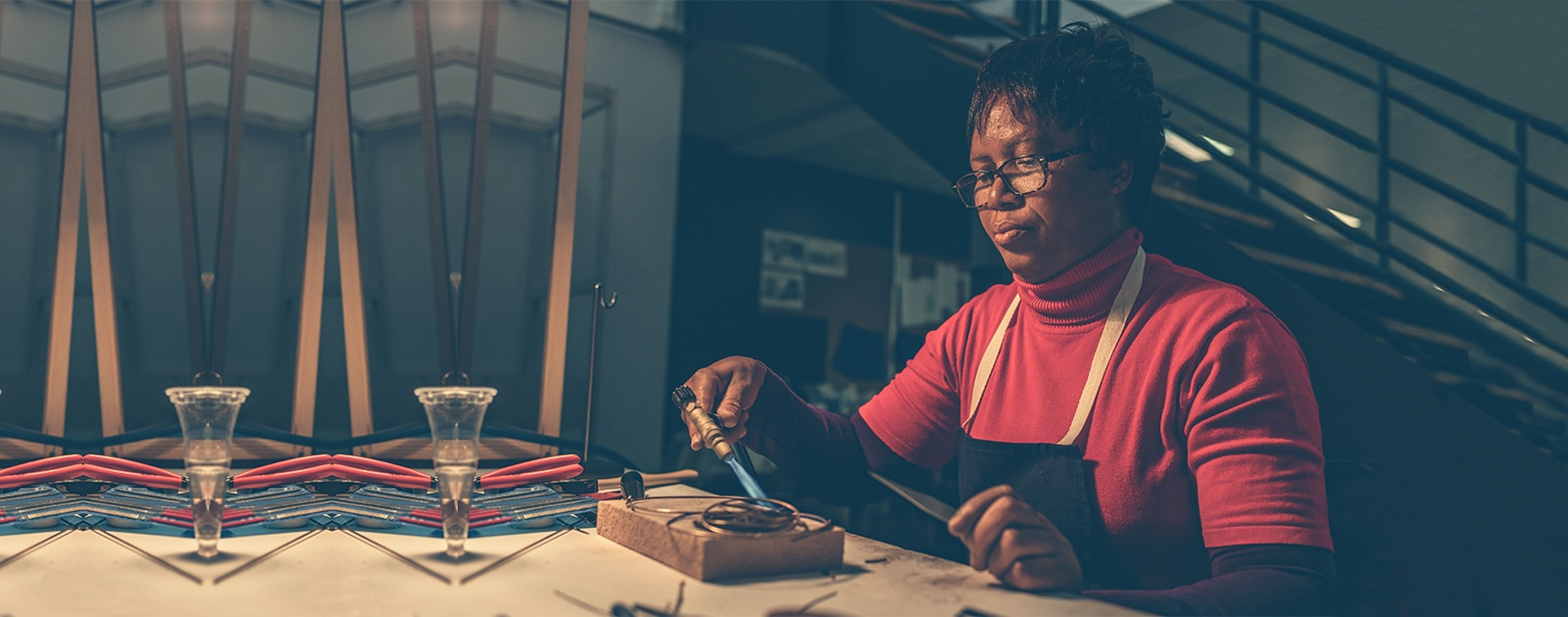 Atelier photophore en cuivre avec Jeannette
