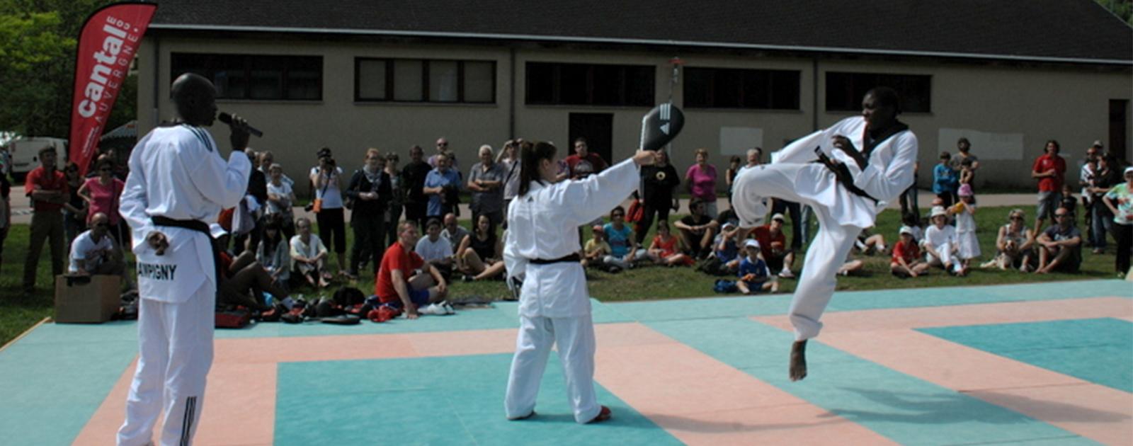 Partage mon taekwondo avec Gwladys Epangue