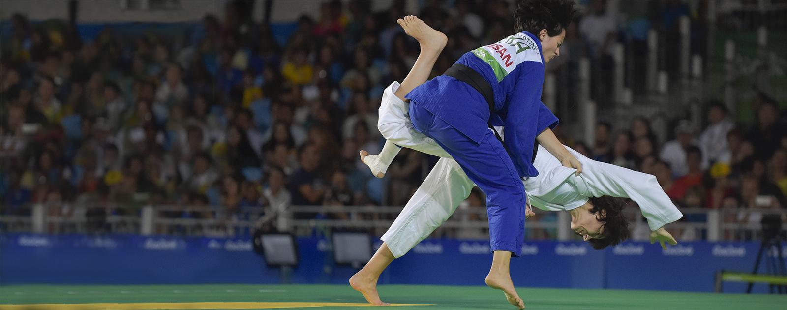 Partage mon handi-judo avec Sandrine Martinet