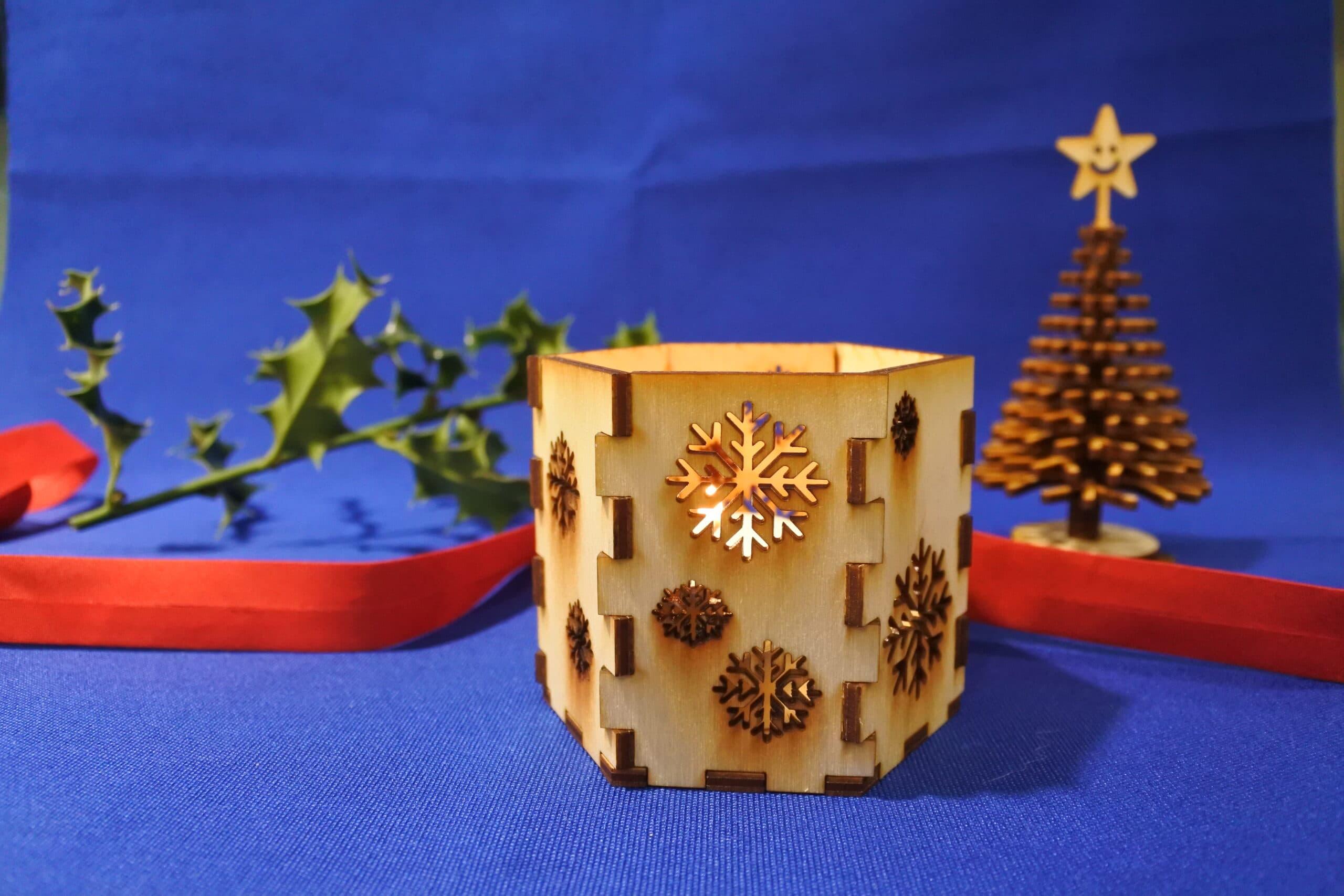 Fabrique ton photophore pour la table de Noël